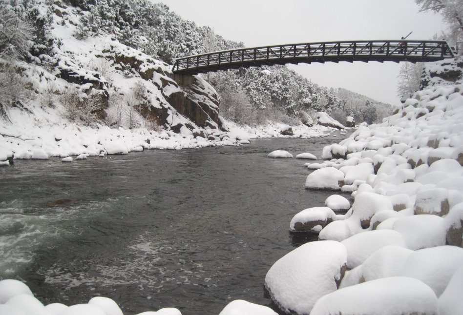 Arkansas River With Snow