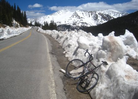 Bicycle and Snow