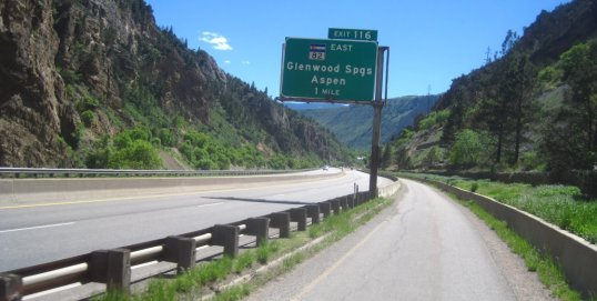 Interstate 70 in Glenwood Springs, CO