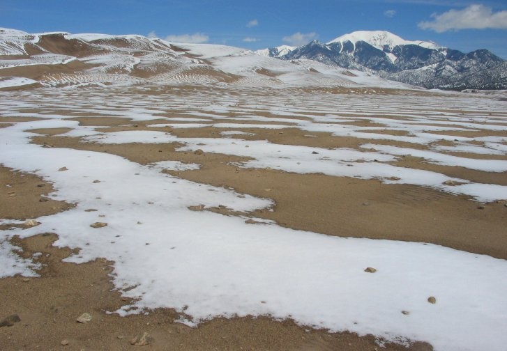 Snow at Great Sand Dunes National Park