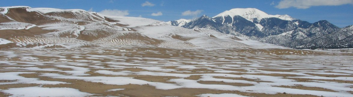 Snow at Great Sand Dunes