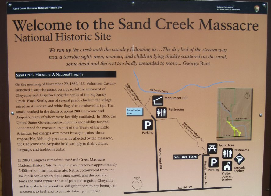an account of the brutal sand creek massacre in colorado Sand creek massacresand creek massacre, an attack on a village   many bodies were brutally mutilated and their scalps were strung across a  denver  in colorado, governor john evans authorized the commander of the  state's militia,  eyewitness accounts reported soldiers combing through the  mutilated.